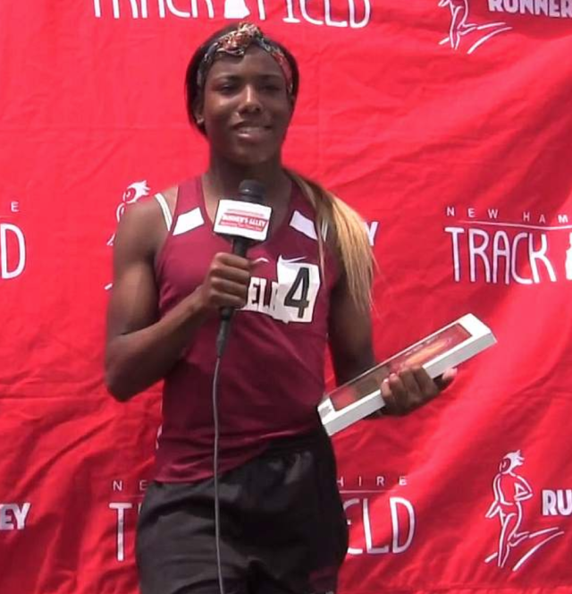Track star Terry Miller recently ran in Connecticut's State Open track and field competition. (Photo: Youtube NH Track and Field)