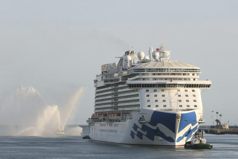 Royal Princess,Princess Cruis Lines' newest and largest West Coast-based ship, off Los Angeles in March. (ASSOCIATED PRESS)