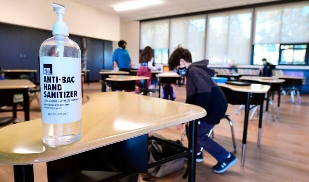 A classroom is seen in a file photo. So far this school year, three Windsor-Essex schools have been closed due to COVID-19 outbreaks. (Frederic J. Brown/AFP/Getty Images - image credit)