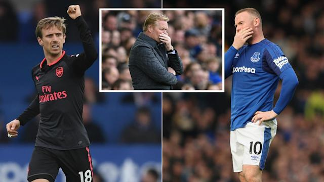 Arsenal piled the pressure on Ronald Koeman at Everton