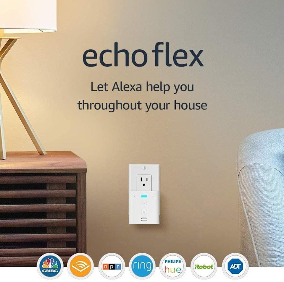 <p>Upgrade your homes with the <span>Echo Flex Plug-In Mini Smart Speaker With Alexa</span> ($10, originally $25).</p>