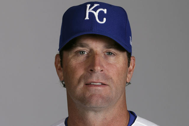 FILE - This is a 2020 file photo of Mike Matheny of the Kansas City Royals baseball team. The Royals had an entire offseason and most of spring training to get to know Mike Matheny. But one unintended consequence of the coronavirus pandemic is they've gotten to know their new manager better than they could ever have imagined. (AP Photo/Charlie Riedel, File)