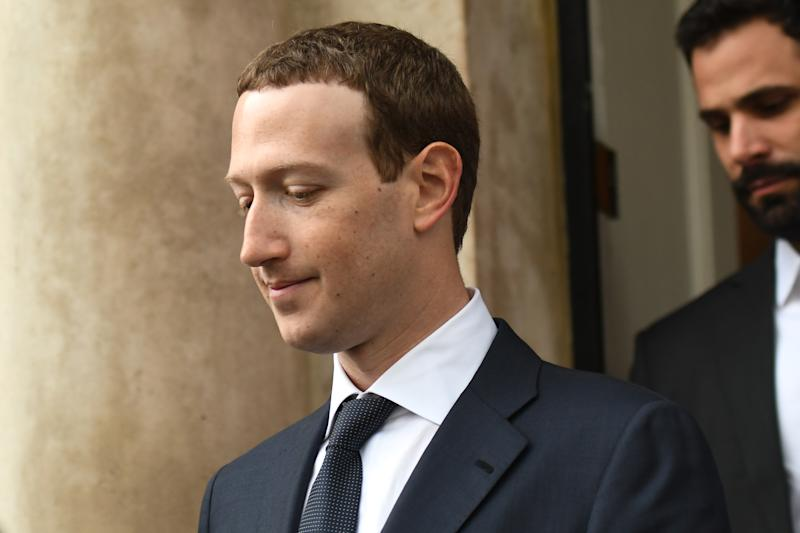 Facebook Chief Executive Officer and founder, Mark Zuckerberg, leaving the Merrion Hotel in Dublin after meeting with Irish politicians to discuss regulation of social media, transparrency in political advertising and the safety of young people and vulnerable adults. On Tuesday, April 2, 2019, in Dublin, Ireland. (Photo by Artur Widak/NurPhoto via Getty Images)