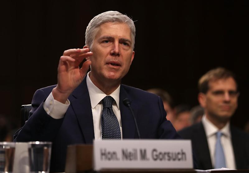 A historic rules change saw Neil Gorsuch confirmed with a final vote count of 54 in support to 45 in opposition