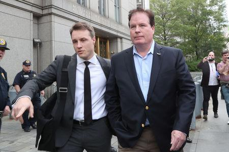 Stephen Calk, CEO of The Federal Bank of Chicago, leaves Manhattan Federal Court in New York, U.S., May 23, 2019. REUTERS/Shannon Stapleton