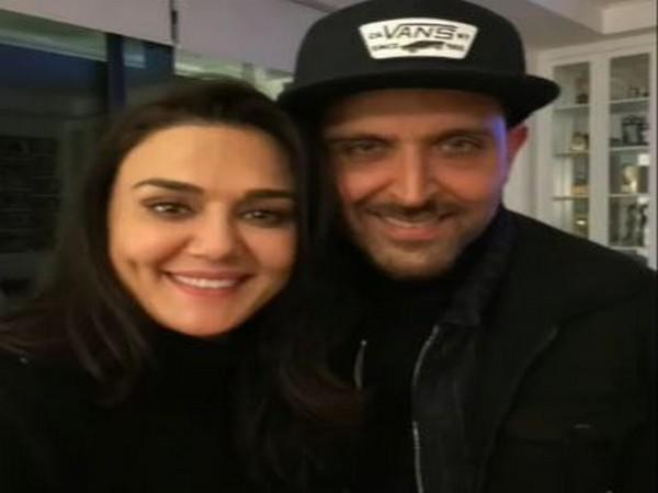 Preity Zinta with Hrithik Roshan