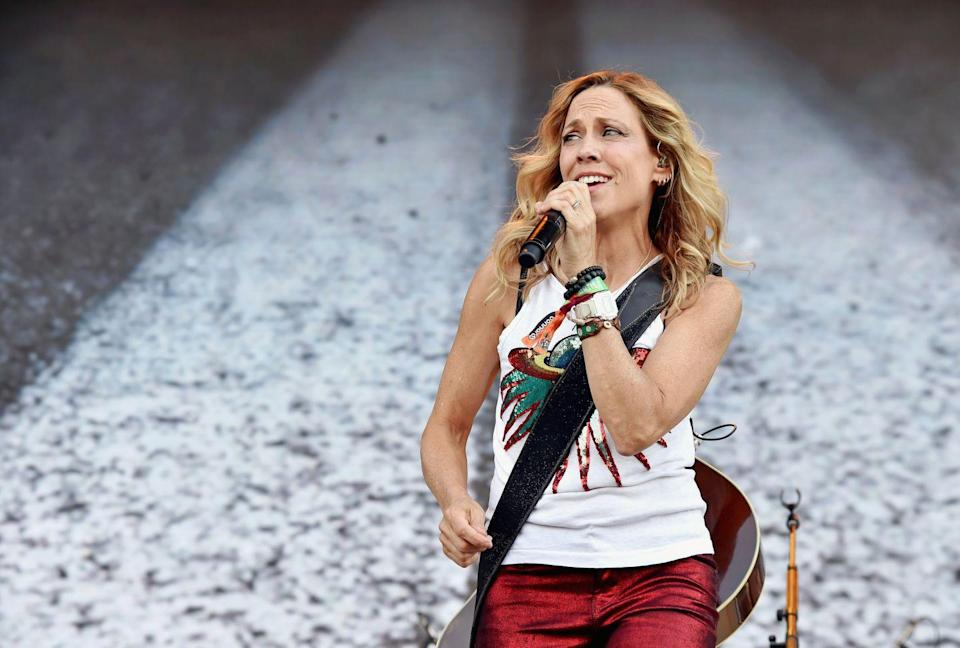 """<p>Country singer Crow was diagnosed with breast cancer in 2006, at 44 years old. In an interview with <em><a href=""""https://www.goodhousekeeping.com/life/inspirational-stories/interviews/a25284/sheryl-crow/"""" rel=""""nofollow noopener"""" target=""""_blank"""" data-ylk=""""slk:Country Living"""" class=""""link rapid-noclick-resp"""">Country Living</a> </em>she was asked about the lessons she learned during her journey and said: """"One of them was to put myself first on my list of those I take care of. Another one was that it's okay to say no. It's okay if people are mad at you or disappointed in you if you're following your voice and you're taking care of yourself."""" </p>"""