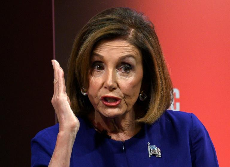 US Speaker of the House Nancy Pelosi asked for an interagency briefing for the House of Representatives on 'President Trump's inexplicable behavior towards Russia' (AFP Photo/ANDREW CABALLERO-REYNOLDS)