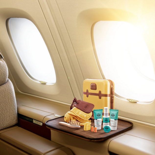 <p>Qatar Airways have created a luxurious amenity kit based on Italian luggage brand BRIC's stylish suitcases. The kit comes with an assortment of creams and lotions along with sleeper suits and cotton slippers and a BRIC's signature luggage tag. Source: Qatar Airways </p>