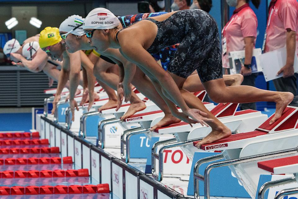 Singapore swimmer Sophie Soon competes in the women's 100m butterfly heats at the 2020 Tokyo Paralympics. (Photo: Sport Singapore)