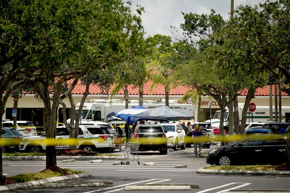 Three people including a child are dead after a shooting at Publix plaza in Royal Palm Beach Thursday June 10, 2021.