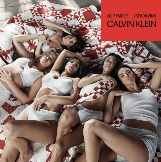 "<p>""I can't believe we're in a Calvin Klein campaign! So surreal!"" the mom-to-be captioned this sexy underwear shot also featuring her sisters Kim, Kourtney, Kendall, and, most notably, Kylie. While we haven't seen much of the youngest Jenner since reports surfaced that she's pregnant, here she is. Though it's definitely not going unnoticed that she's the only one in the photo whose belly isn't showing. Hmmm. (Photo: <a href=""https://www.instagram.com/p/BeRR70WFCqj/?taken-by=khloekardashian"" rel=""nofollow noopener"" target=""_blank"" data-ylk=""slk:Khloe Kardashian via Instagram"" class=""link rapid-noclick-resp"">Khloe Kardashian via Instagram</a>) </p>"