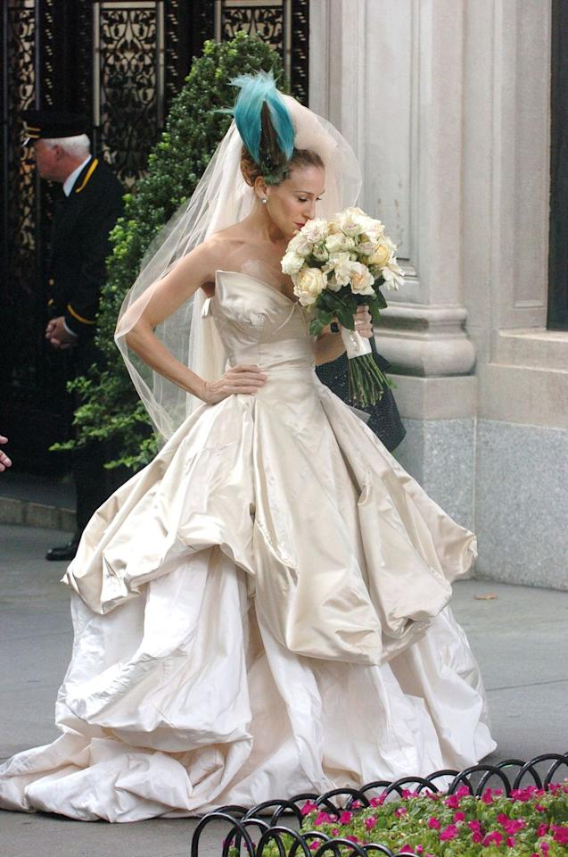 <p>Has anyone recovered from the Vivienne Westwood wedding dress Carrie Bradshaw wore in the 2008 <em>Sex and the City</em> movie? Obviously, the dress caused, er, complications for her and Big, but to be honest, I'd choose this dress over Big any day.</p>