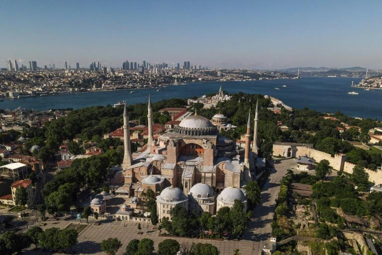 The sixth-century edifice has been a museum since 1935 (AFP Photo/Ozan KOSE)