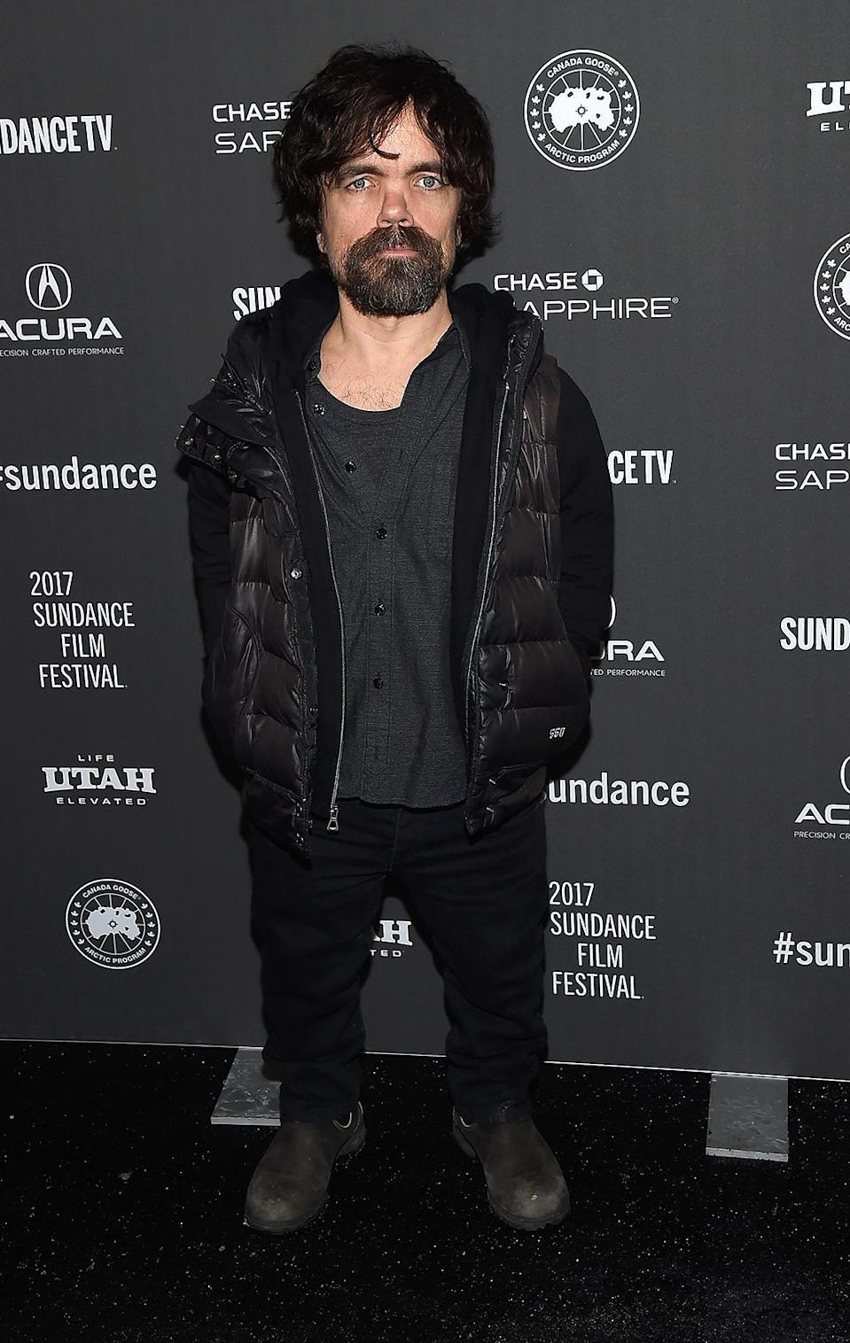 <p>The 'Game of Thrones' star attends the premiere of his new film 'Rememory' on Jan. 25. (Photo: Matt Winkelmeyer/Getty Images) </p>