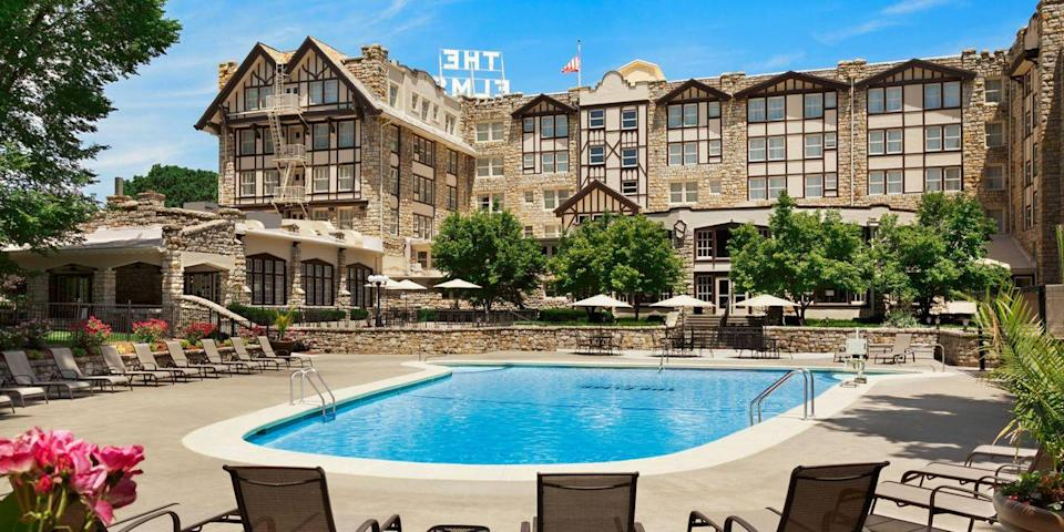 """<p>Just outside of Kansas City is the <a href=""""https://go.redirectingat.com?id=74968X1596630&url=https%3A%2F%2Fwww.tripadvisor.com%2FHotel_Review-g44354-d111645-Reviews-The_Elms_Hotel_and_Spa-Excelsior_Springs_Missouri.html&sref=https%3A%2F%2Fwww.redbookmag.com%2Fabout%2Fg34149750%2Fmost-historic-hotels%2F"""" rel=""""nofollow noopener"""" target=""""_blank"""" data-ylk=""""slk:Elms"""" class=""""link rapid-noclick-resp"""">Elms</a>, a historic Tudor-style hotel in Excelsior Springs, once famous for its healing mineral springs. The original Elms was built in 1888, and President Harry S. Truman was among its illustrious guests. Today, the hotel is fresh from a $20 million makeover, with 153 rooms and a full-service spa.</p>"""