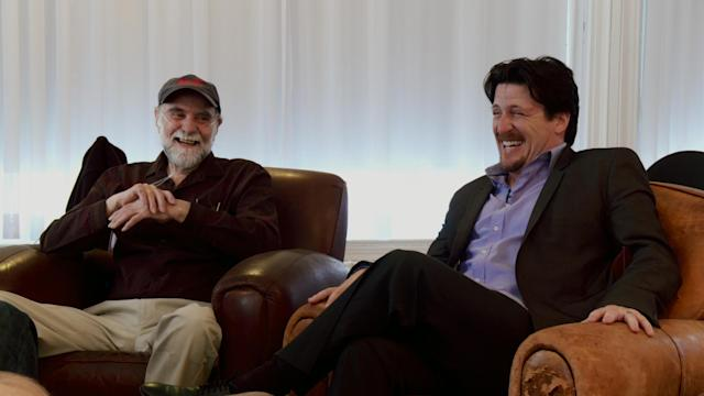 Nelson and Barretta in a still from <em>Muppet Guys Talking</em>. (Photo: Vibrant Mud)