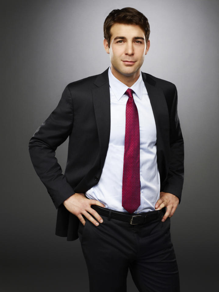 """James Wolk, who has appeared in """"Happy Endings"""" and """"Shameless,"""" is Douglas Hammond, the other son of Elaine and Bud. While his brother, T.J. clearly fills the role of the bad boy, Douglas is the good boy – working for his mother…and taking her calls at all hours of the night. He's newly engaged, but doesn't appear to be that connected to his fiancée – or else he'd know she is battling some demons."""