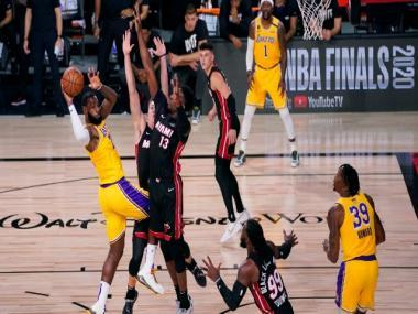 NBA: Los Angeles Lakers, LeBron James breeze past Miami Heat in Game 1 of Finals