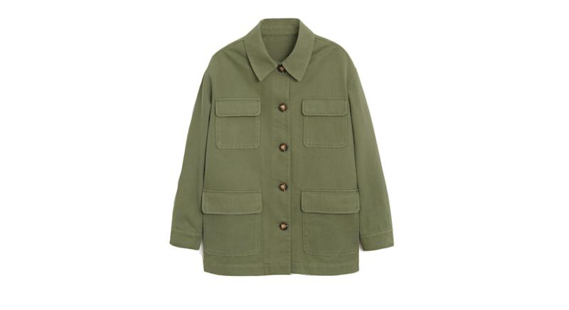 Multi-pocket cotton jacket