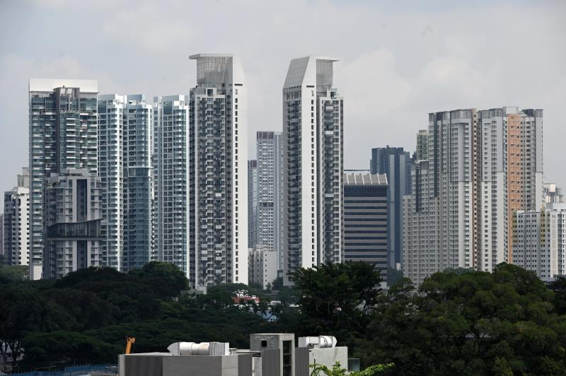 This photograph taken on August 21, 2019 shows apartment highrise buildings in Singapore. (Photo by Roslan RAHMAN / AFP) (Photo credit should read ROSLAN RAHMAN/AFP via Getty Images)