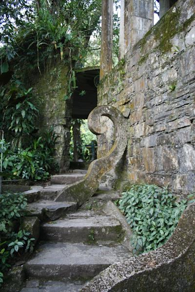 This Jan. 31, 2014 photo shows an ornate stairway in Las Pozas, a dreamy, little-known garden of surreal art, in Mexico's northeast jungle. The garden was created by the late Edward James, a British multimillionaire and arts patron who favored surrealists like Rene Magritte and Salvador Dali. (AP Photo/Teresa de Miguel Escribano)