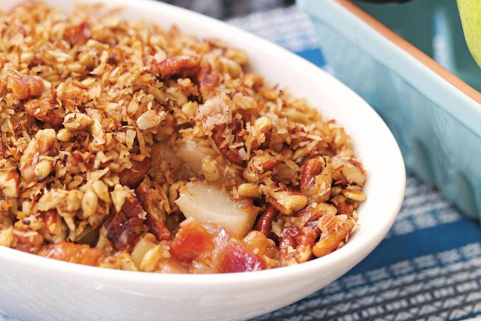 """This breakfast cobbler is a great way to use pressure cooking in a less obvious way, and it simultaneously brings a delicious variation to your morning meal. <a href=""""https://www.epicurious.com/recipes/food/views/instant-pot-breakfast-cobbler?mbid=synd_yahoo_rss"""" rel=""""nofollow noopener"""" target=""""_blank"""" data-ylk=""""slk:See recipe."""" class=""""link rapid-noclick-resp"""">See recipe.</a>"""