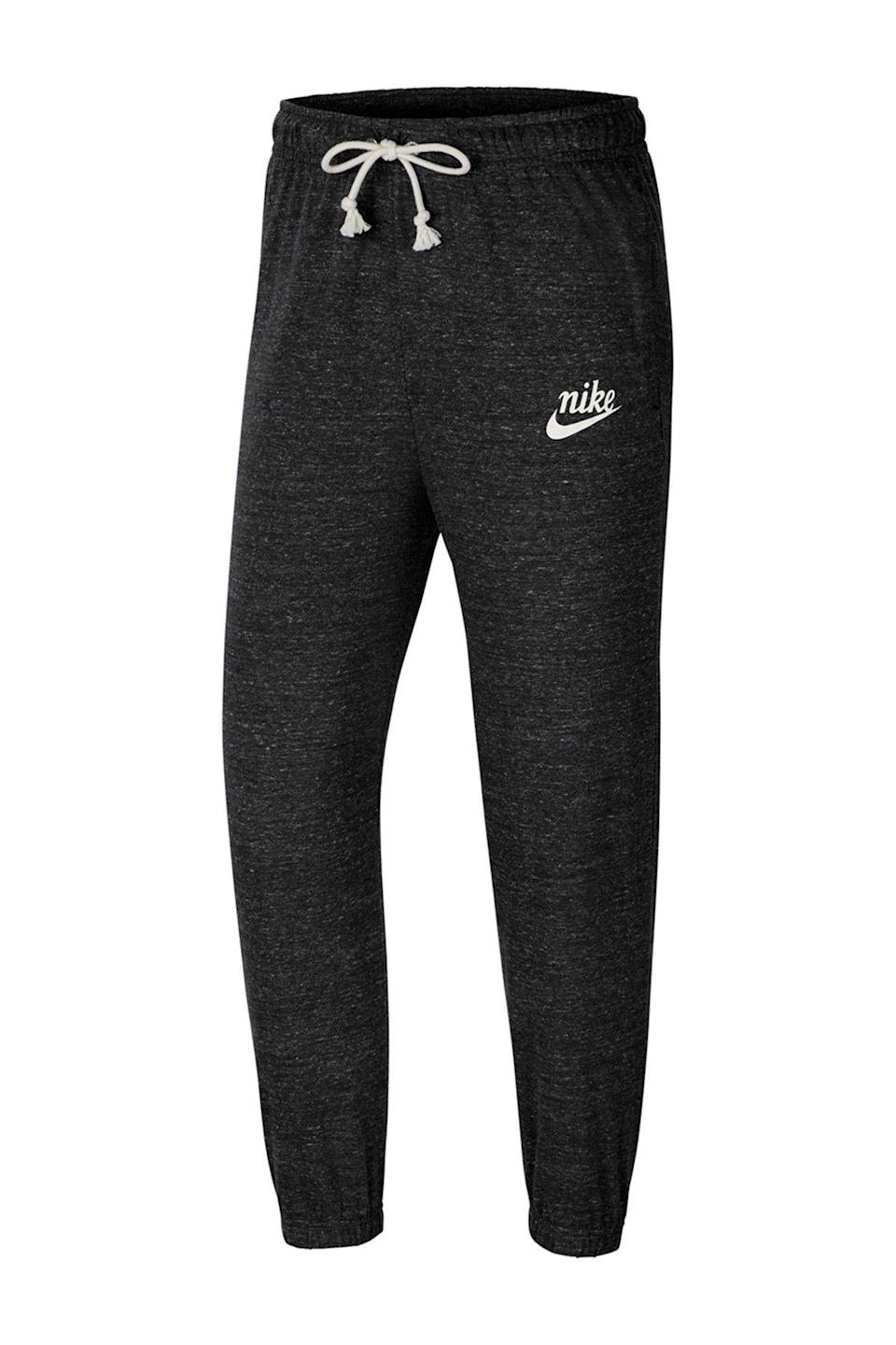 """<p><strong>Nike</strong></p><p>nordstromrack.com</p><p><a href=""""https://go.redirectingat.com?id=74968X1596630&url=https%3A%2F%2Fwww.nordstromrack.com%2Fshop%2Fproduct%2F2939174&sref=https%3A%2F%2Fwww.womenshealthmag.com%2Fstyle%2Fg33534500%2Fnordstrom-rack-nike-sale%2F"""" rel=""""nofollow noopener"""" target=""""_blank"""" data-ylk=""""slk:Shop Now"""" class=""""link rapid-noclick-resp"""">Shop Now</a></p><p><del>$45</del><strong><br>$33.97</strong></p><p>Or, if you want to get a head-start on your cold-weather shopping, go ahead and add this pair to your growing sweatpants rotation.</p>"""