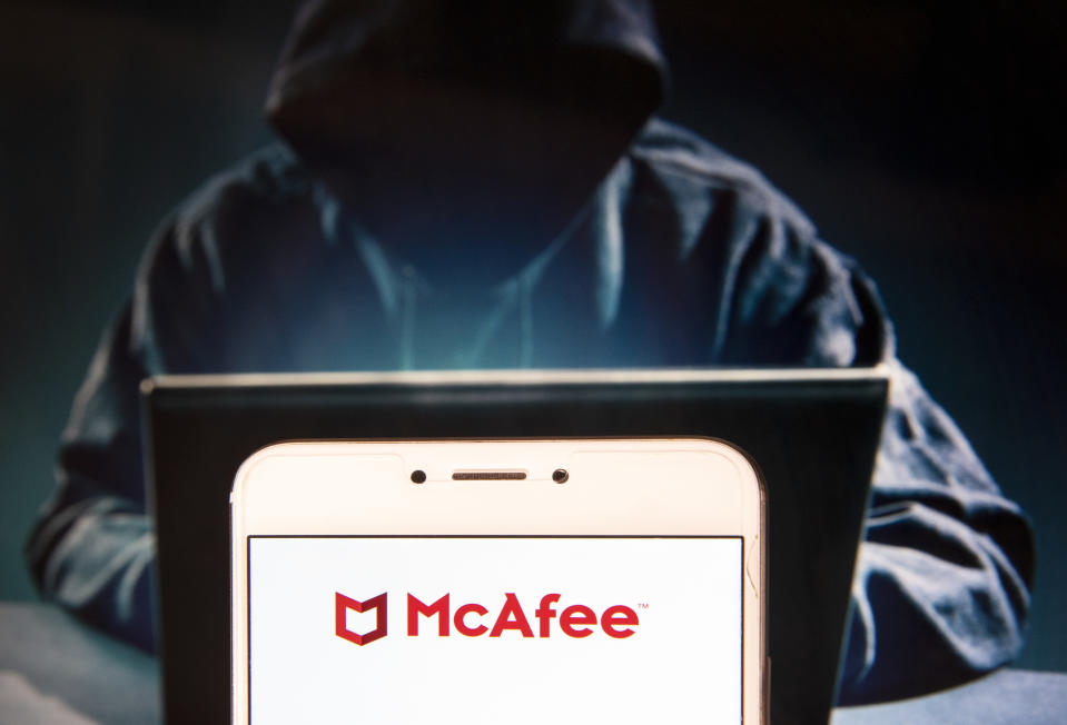 McAfee is a major player in cyber security—keeping hackers out, no matter what day of the year it is. (Photo: Getty)