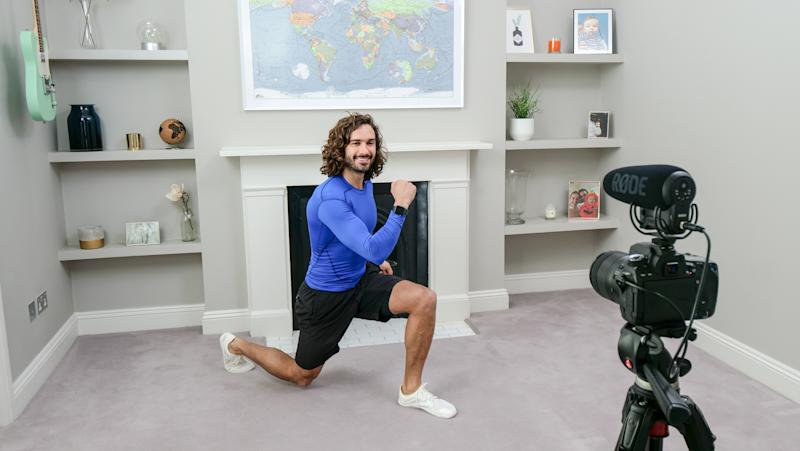 Joe Wicks takes part in the BBC Children In Need and Comic Relief 'Big Night In at London on April 23, 2020 in London, England. (Photo by Comic Relief/BBC Children in Need/Comic Relief via Getty Images)