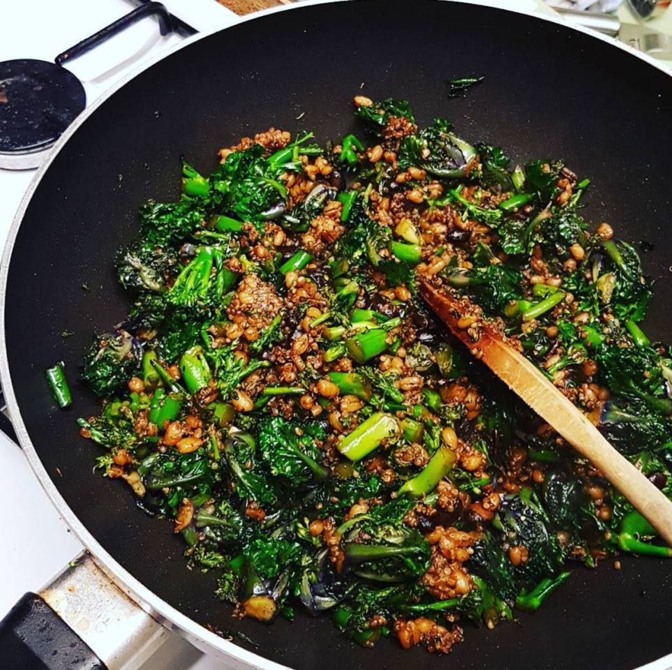 """<p>Purple sprouting broccoli appears at the end of January and you've got it until April or May. And it's super versatile – chuck in a stir fry or try <a rel=""""nofollow"""" href=""""http://www.deliaonline.com/recipes/meals-and-courses/sides/purple-sprouting-broccoli-with-chilli-lime-and-sesame-dressing"""">Delia's recipe for purple sprouting broccoli with chilli, lime & dressing</a>. [Photo: Instagram/shennie01] </p>"""