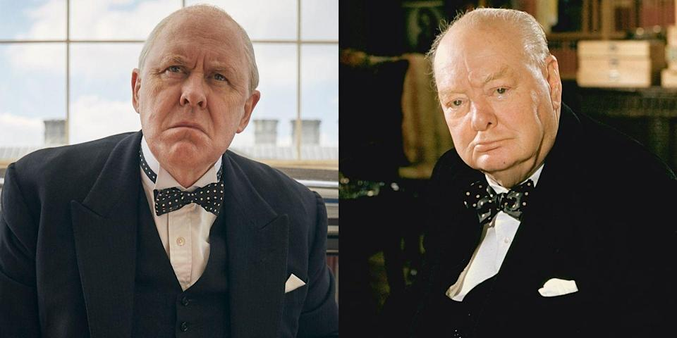 <p>John Lithgow's rendition of Sir Winston Churchill, the first prime minister to rule under Queen Elizabeth II's monarchy, was so spot on, it earned him a Golden Globe nomination in 2017. From Churchill's bow-tie collection and his love of a good bath to the way he carried himself during private audience sessions with the queen, John totally embodied the signature elements of the prime minister, who resigned in 1955 after suffering a stroke during his second term.</p>
