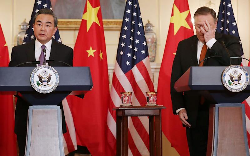 Relations between Mike Pompeo and Chinese foreign minister Wang Yi are likely to come under strain - Getty Images North America