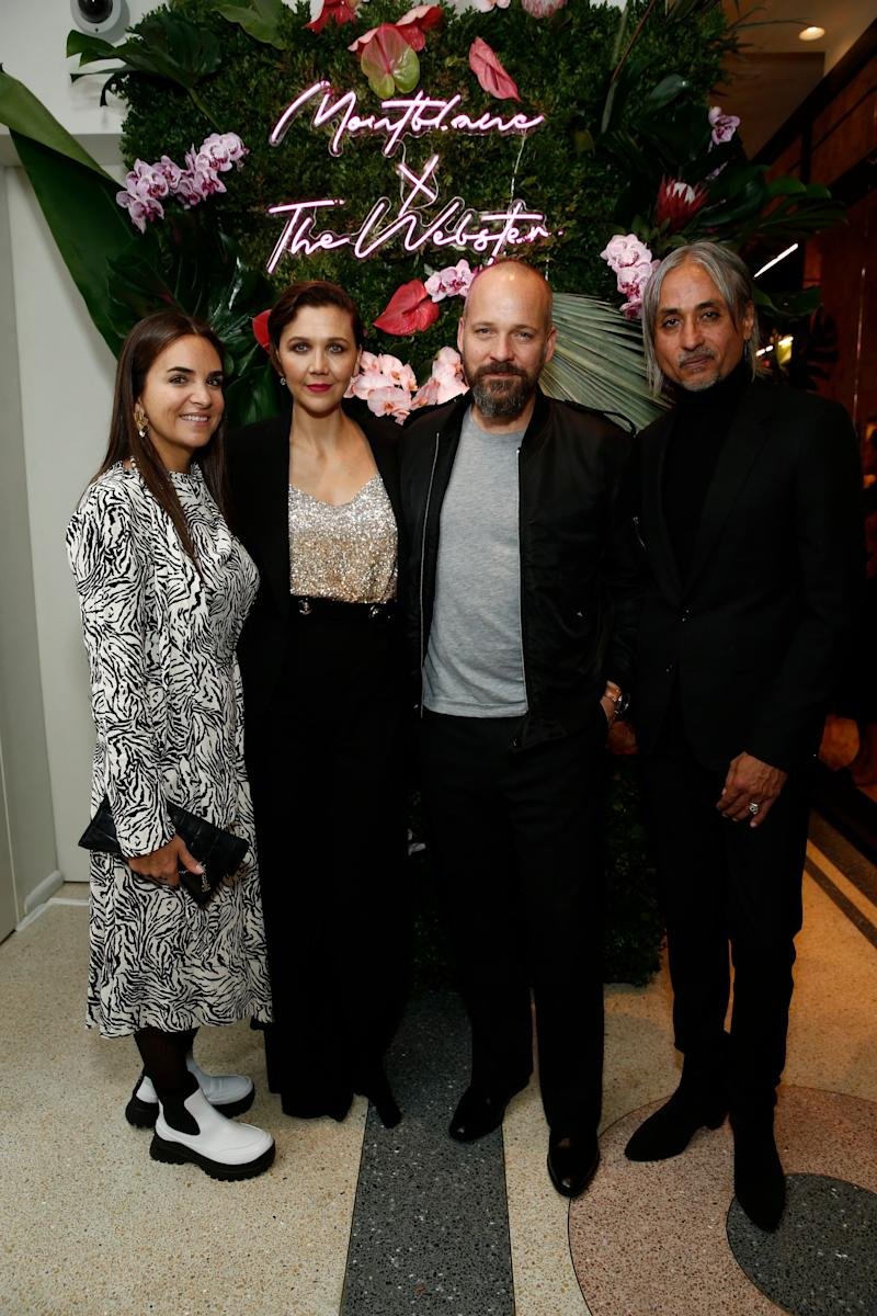 Webster Founder & Creative Director Laure Hériard Dubreuil, Maggie Gyllenhaal, Peter Sarsgaard, and Montblanc Creative Director Zaim Kamal attend the Montblanc x The Webster Collaboration Launch Event at The Webster on November 05, 2019 in New York City. (Photo by Brian Ach/Getty Images for Montblanc)