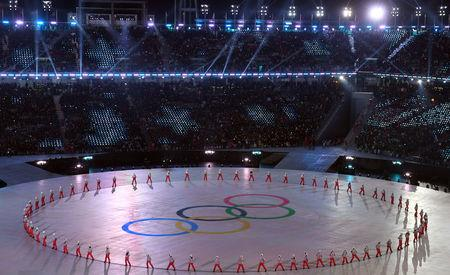 FILE PHOTO: Performers appear during the opening ceremonies at the 2018 Winter Olympics in Pyeongchang