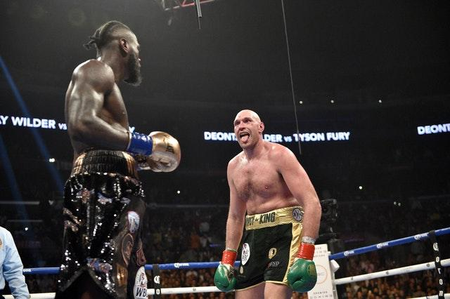 Tyson Fury got up off the canvas twice in the first fight (Lionel Hahn/PA)