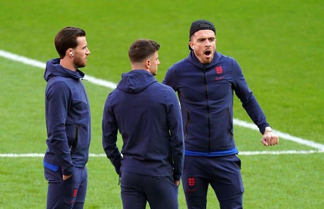 The England players arrived