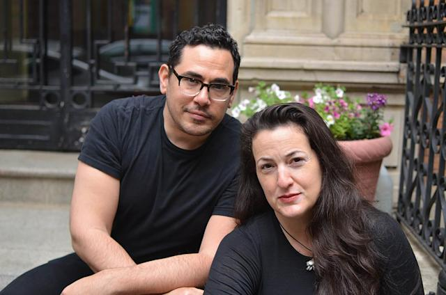 Trans Beauty Clinic partners Birgitte Philippides-Delaney and Todd Harris. (Photo: Anne Kristoff for Yahoo Lifestyle)