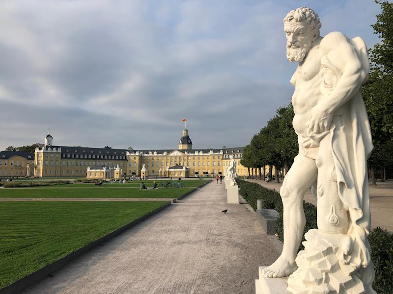 Right side: Karlsruhe Palace in southwest Germany, close to the French frontier (Simon Calder)