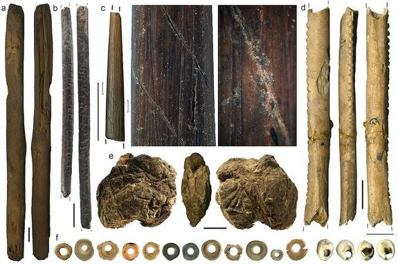 Tools and beads found at Border Cave, South Africa, date back as far as 40,000 years.