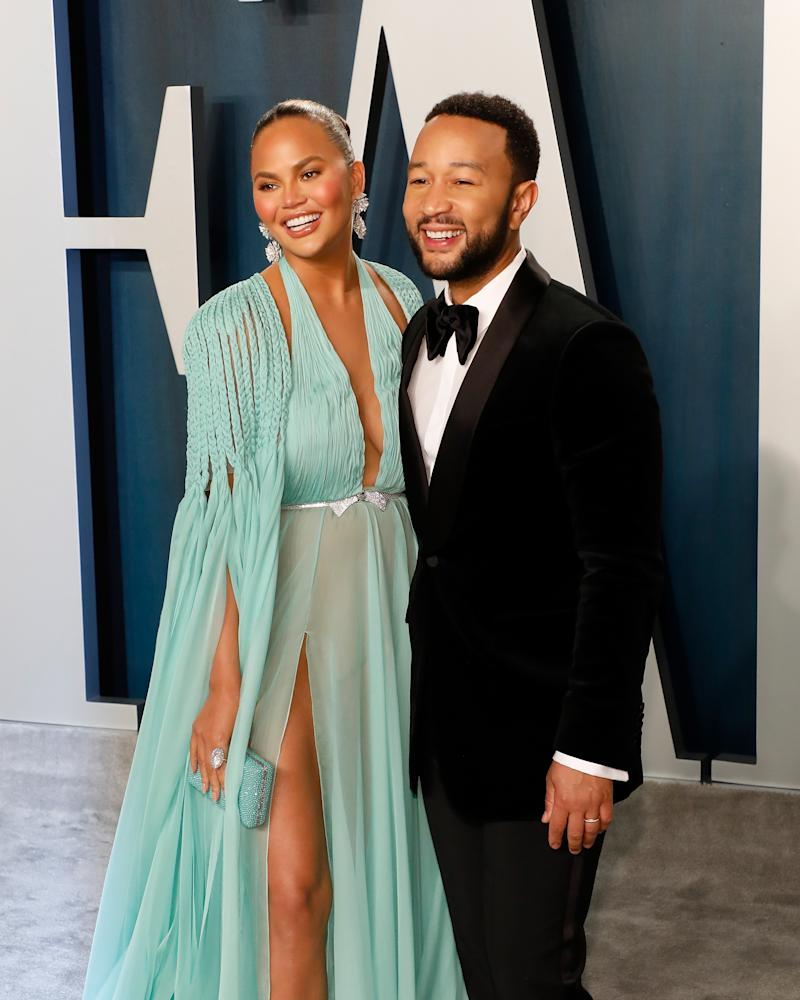 Chrissy Teigen and husband John Legend. The couple share two children together, daughter Luna and son Miles. (Photo by Taylor Hill/FilmMagic,)