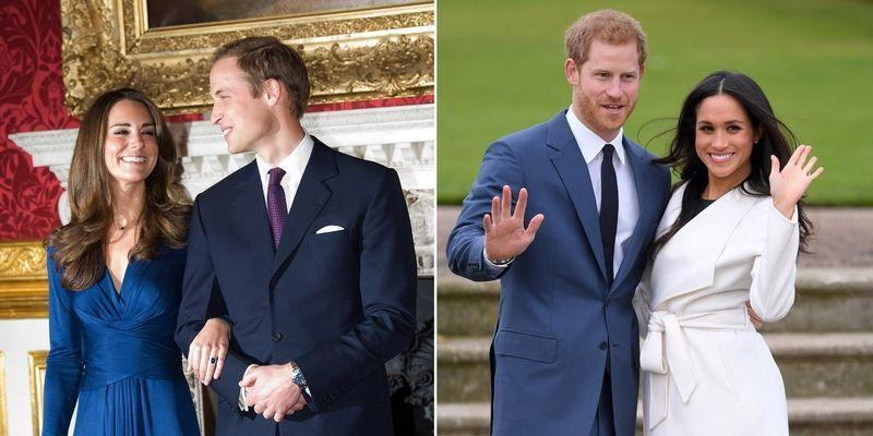 <p>When Kate had her engagement photographs with William taken, it marked the first occasion that the future princess ever had to stand and pose in front of hundreds of cameras. For Meghan, a famous American actress who is long used to being in the public eye, this was a far less daunting task.</p><p> As well as this, Meghan and Harry are older (36 and 33 respectively) than William and Kate were when they became engaged (both 28). This meant that they appeared to be more confident and comfortable in front of the cameras than the now Duke and Duchess of Cambridge, who seemed a little less at ease. </p>