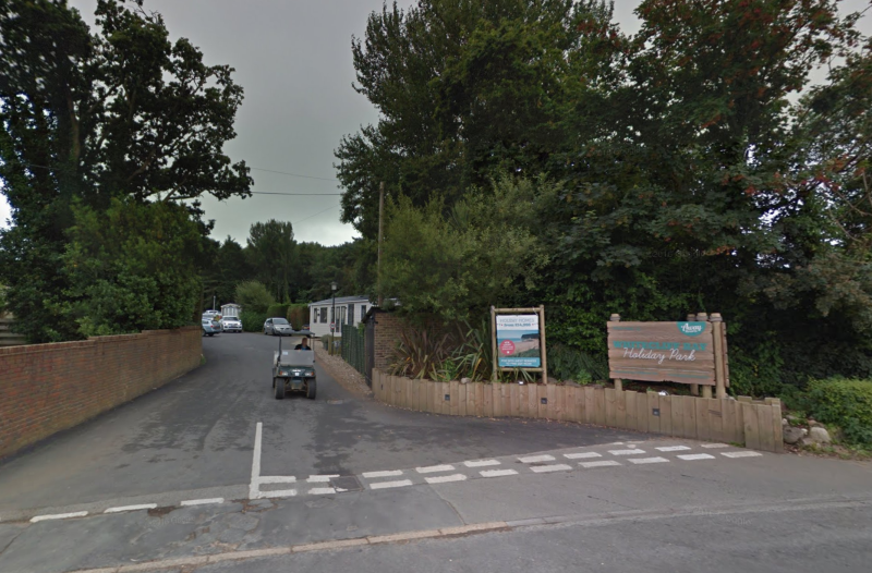 A Royal Navy bomb squad was called to the Whitecliff Bay Holiday Park on Thursday. (Google Street View)