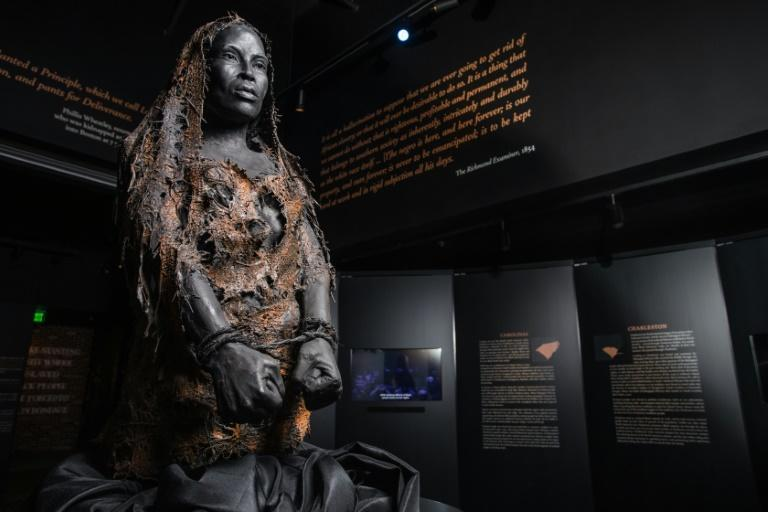 An exhibit at the Legacy Museum in Montgomery, Alabama (AFP/Handout)