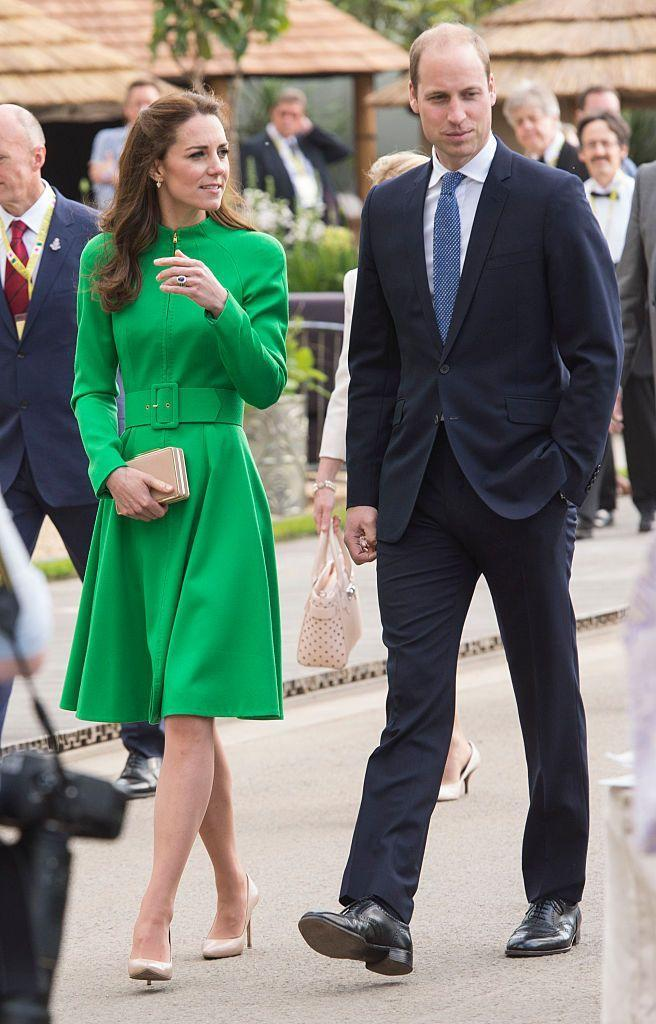 "<p>Kate was spotted wearing a green Catherine Walker coatdress at the <a href=""https://www.rhs.org.uk/shows-events/rhs-chelsea-flower-show"" rel=""nofollow noopener"" target=""_blank"" data-ylk=""slk:Royal Chelsea Flower Show"" class=""link rapid-noclick-resp"">Royal Chelsea Flower Show</a>.</p>"