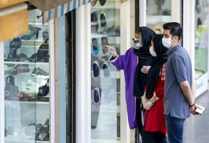 Iran has seen a growing number of clusters of coronavirus infection since it reopened for business countrywide in April, prompting the authorities to renew calls for the public to observe health protocols (AFP Photo/ATTA KENARE)