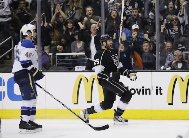 LA Kings win fourth straight, eliminate Blues for second straight year (Video)
