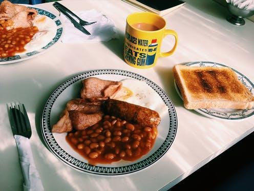 """<span class=""""caption"""">One of the most popular UK breakfasts is less than friendly to the environment.</span> <span class=""""attribution""""><a class=""""link rapid-noclick-resp"""" href=""""https://pixabay.com/photos/english-breakfast-toast-tea-food-2421038/"""" rel=""""nofollow noopener"""" target=""""_blank"""" data-ylk=""""slk:Ruckers/Pixabay"""">Ruckers/Pixabay</a></span>"""