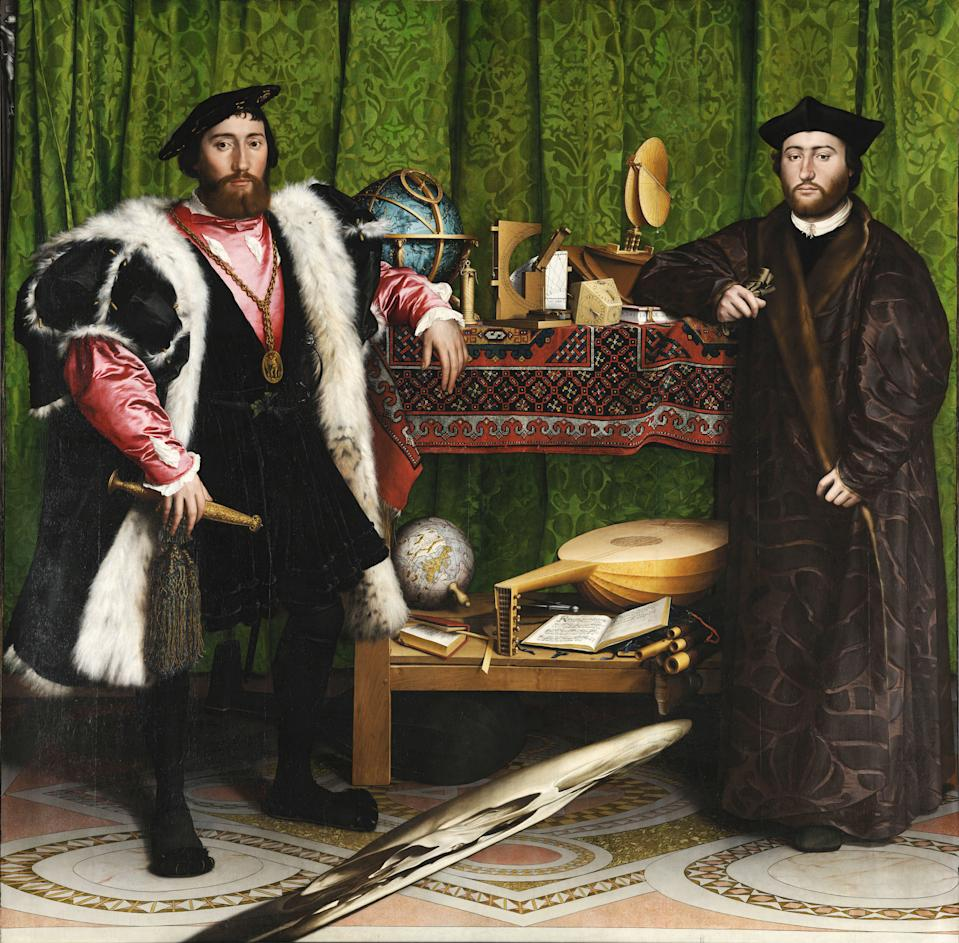 The Ambassadors by Hans Holbein the Younger skull detail inspires empty teacup