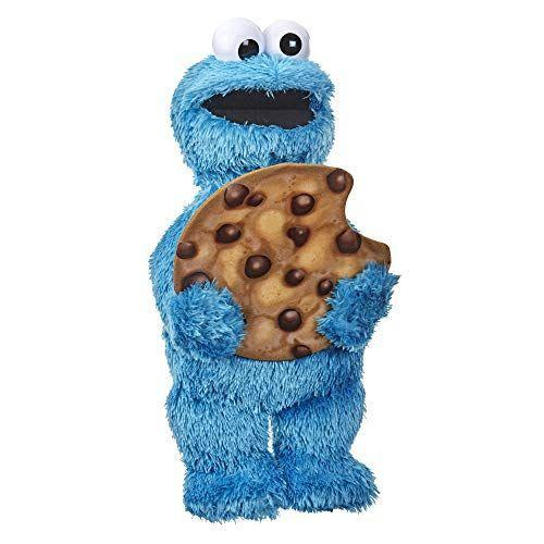 """<p><strong>Sesame Street</strong></p><p>amazon.com</p><p><strong>$26.36</strong></p><p><a href=""""https://www.amazon.com/dp/B083QZSLMT?tag=syn-yahoo-20&ascsubtag=%5Bartid%7C10055.g.31132135%5Bsrc%7Cyahoo-us"""" rel=""""nofollow noopener"""" target=""""_blank"""" data-ylk=""""slk:Shop Now"""" class=""""link rapid-noclick-resp"""">Shop Now</a></p><p>Peekaboo never gets old, but it does feel new again with this Sesame Street friend. The ultra-adorable Cookie Monster hides his face behind his oversized cookie, then reveals it again while saying funny expressions like, """"Hey! Me busy eating cookie!"""" <em>Ages 18 months+</em></p>"""